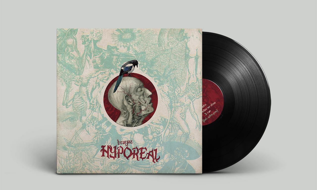 Covergestaltung der Vinyl-LP für Brayaz