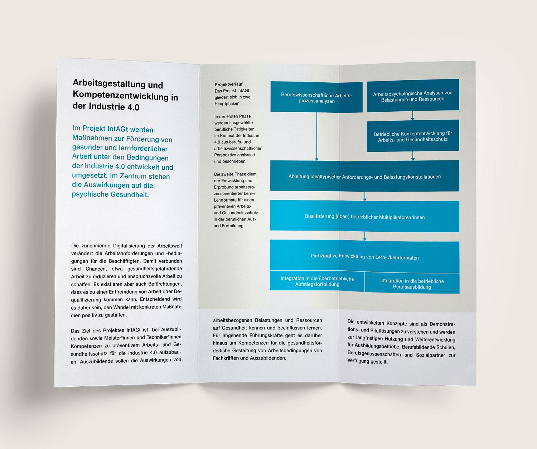 DIN-lang Flyer für das Projekt IntAGt (ITB)