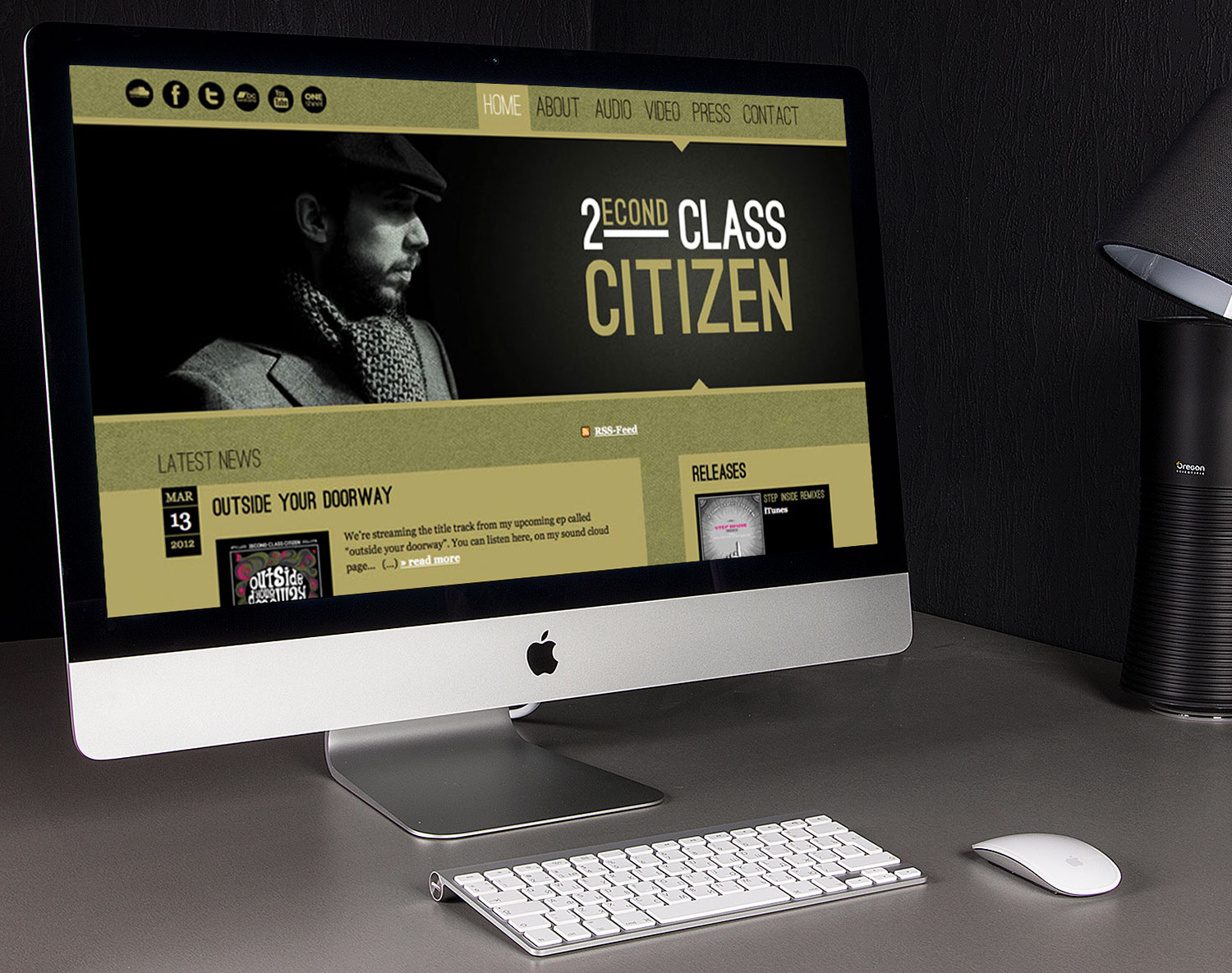 Website für den Musiker 2econd Class Citizen