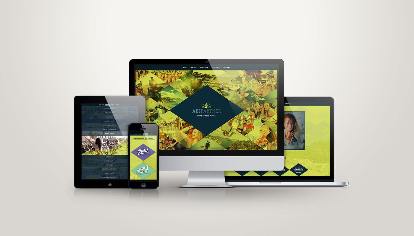 Responsive Webdesign für Abipartner