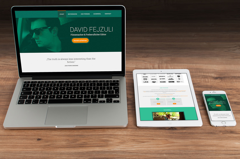 Website für den Freiberufler David Fejzuli