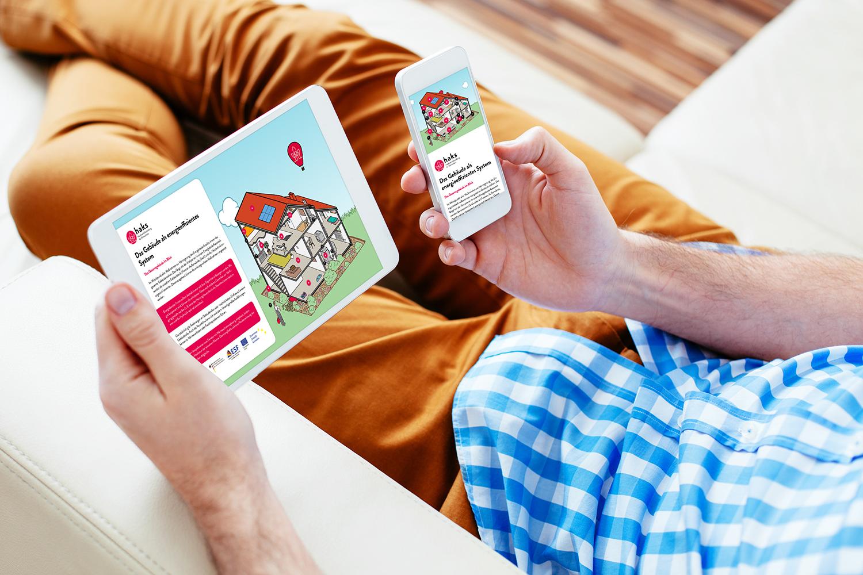 Interaktive Haus-Grafik für HAKS