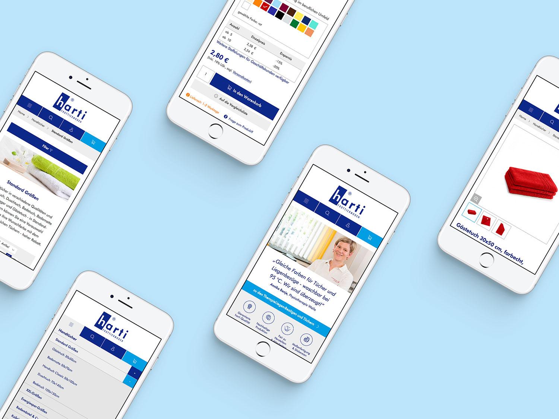 Responsive Webdesign für Harti Frottiermoden