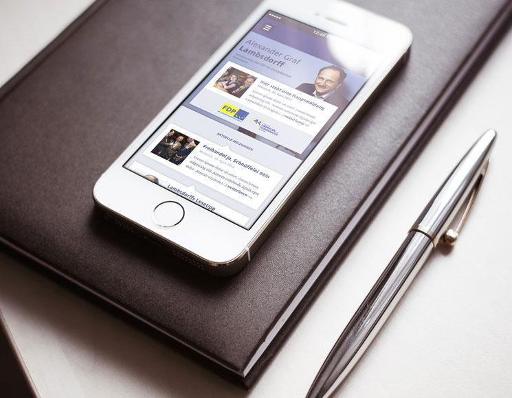 Responsive Webdesign für Alexander Graf Lambsdorff (FDP)