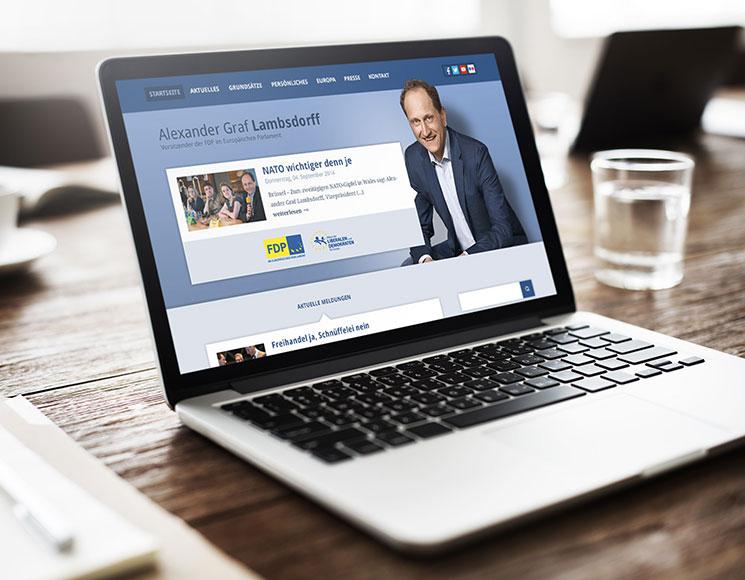 Webdesign für Alexander Graf Lambsdorff (FDP)